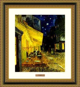 밤의 카페 테라스