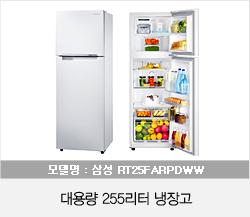대용량 255리터 냉장고
