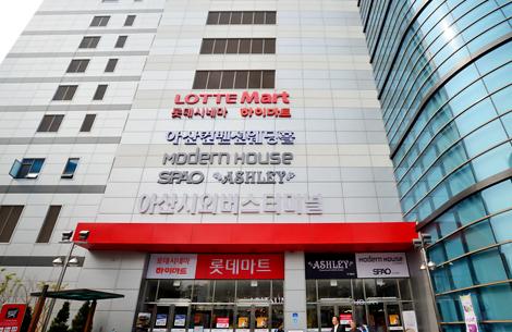 모노팰리스에서 자가 4분거리! 롯데시네마 오픈예정!  롯데마트 아산터미널점